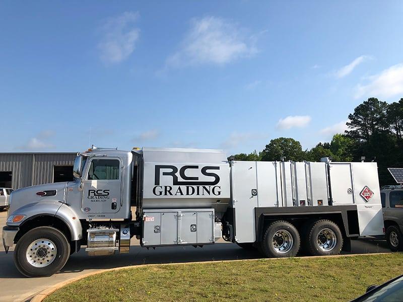 RCS Grading truck, drivers side